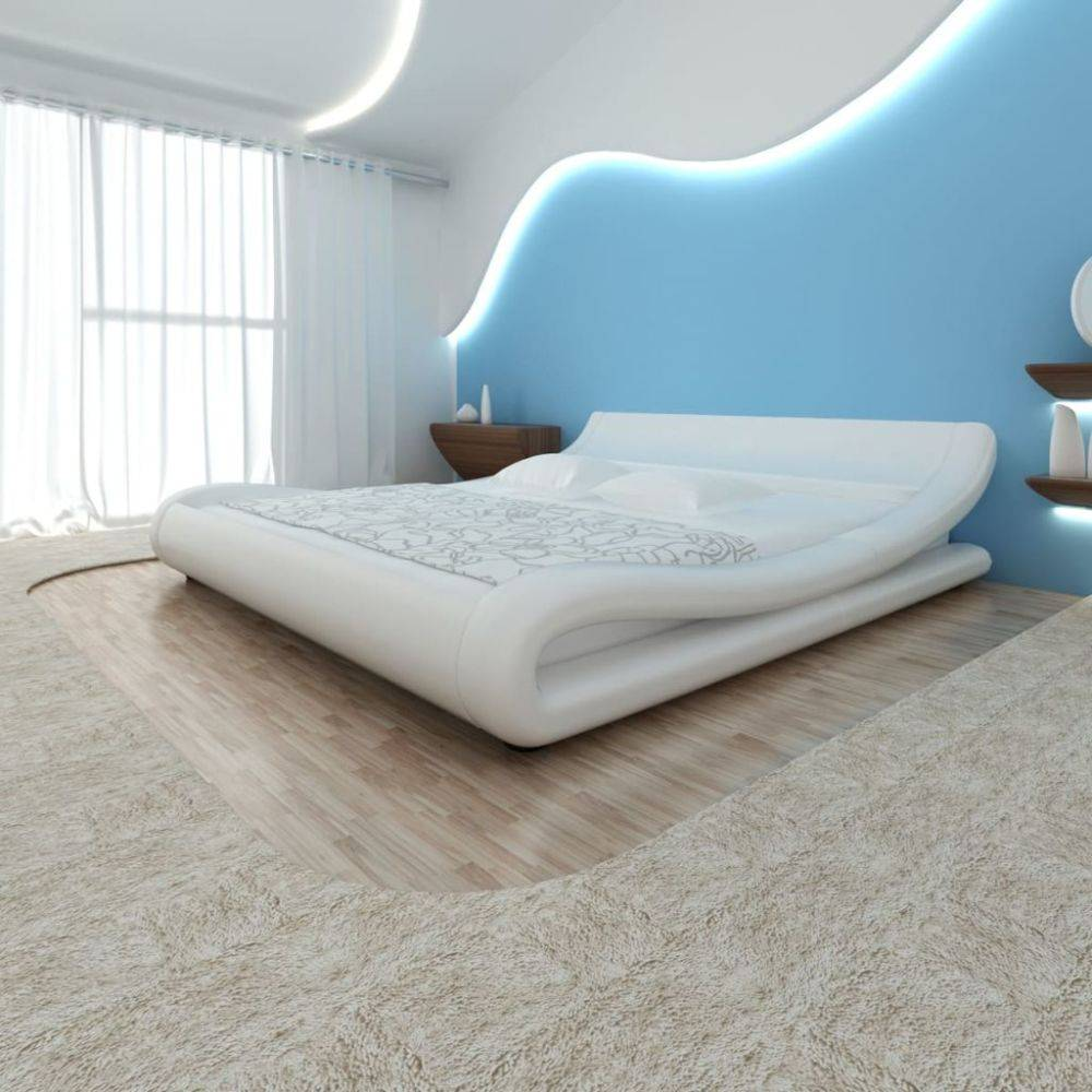 Bed 140x200 Wit.Vidaxl Bed Met Matras 140x200 Cm Krul Wit Voordeeltrends