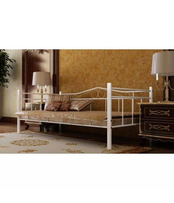 Traagschuim Matras 90 X 200.Bed Met Traagschuim Matras Metaal Wit 90x200 Cm