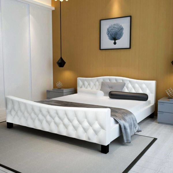 2-persoonsbed Baccalieri 180 x 200 cm wit + matras