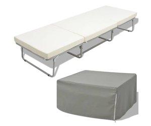 Vidaxl vouwbed stoel met matras staal cm voordeeltrends