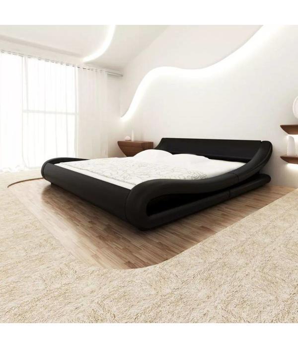 Zwart Bed 140x200.Vidaxl Bed 140x200 Cm Kunstleer Gekruld Zwart Voordeeltrends