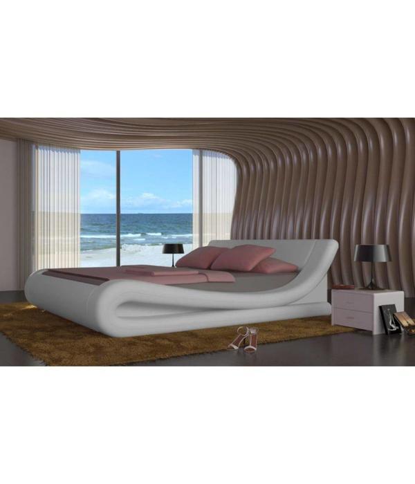 2 Persoons Spijlenbed.Vidaxl 2 Persoons Bed Van Kunstleer 140 X 200 Cm Wit Voordeeltrends