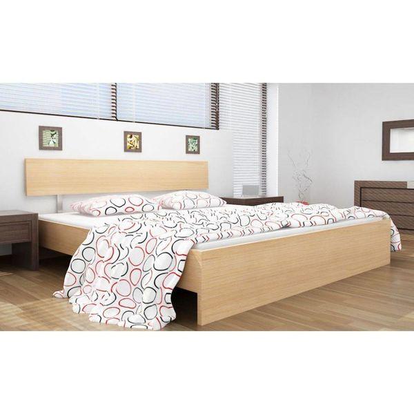2-persoons bed Hypnos berken 140 x 200 incl. matras