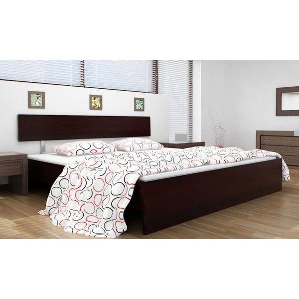 2-persoons bed Hypnos zwartbruin 140 x 200 incl. matras