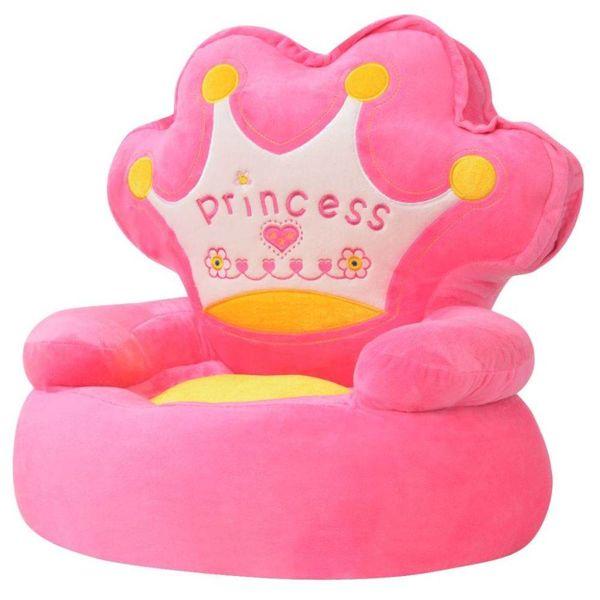 Kinderstoel prinses pluche roze