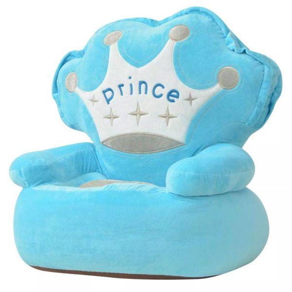 Kinderstoel prins pluche blauw