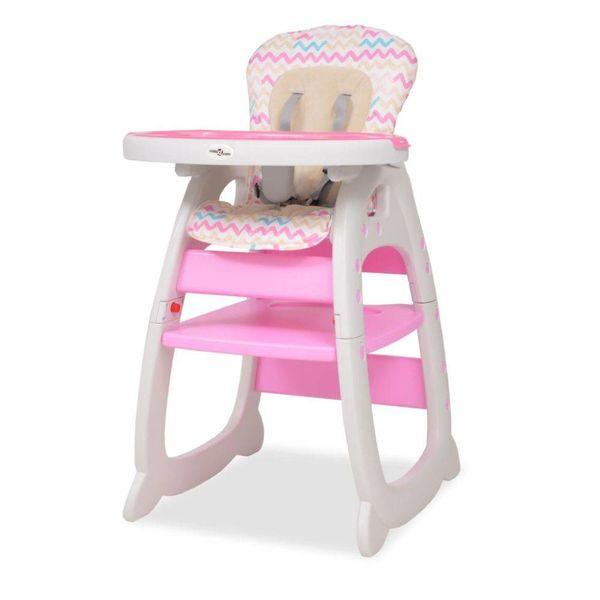 Kinderstoel met blad 3-in-1 verstelbaar roze