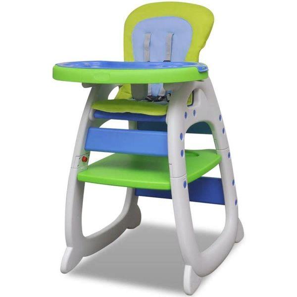 Kinderstoel 3-in-1 blauw-groen