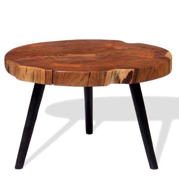 Boomstam salontafel massief acaciahout (55-60)x40 cm