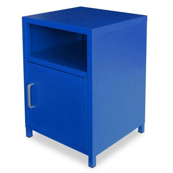 Nachtkastje 35x35x51 cm blauw