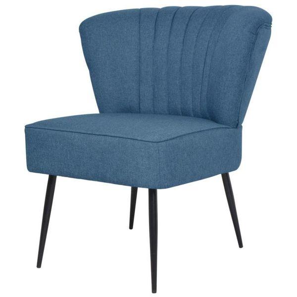 Cocktail stoel blauw