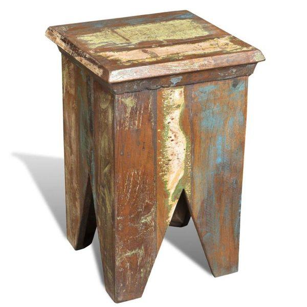 Krukje in antieke stijl gerecycled hout