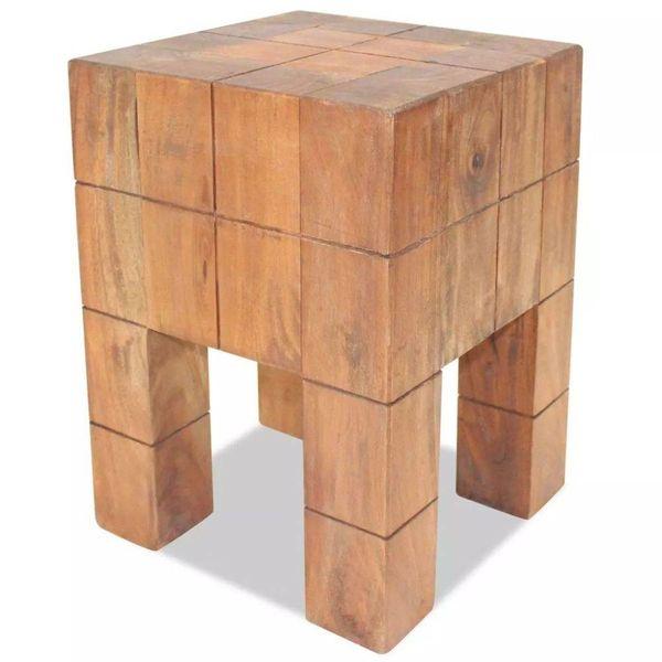 Kruk 28x28x40 cm massief gerecycled hout