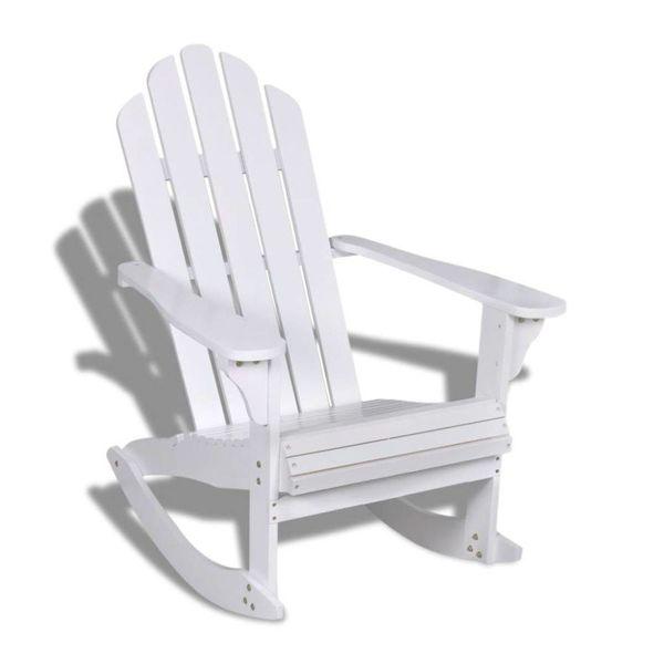 Schommelstoel hout wit