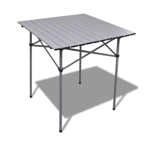 Aluminium campingtafel opvouwbaar 70x70x70 cm