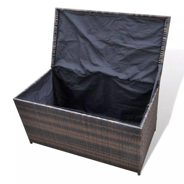 Bruine wicker opbergbox 116 x 60 x 60 cm
