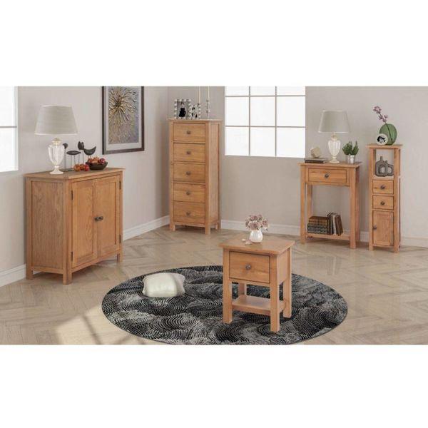 Woonkamer meubelset massief eikenhout 5-delig