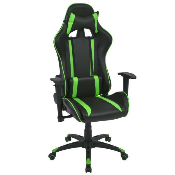 Bureau-/gamestoel verstelbaar kunstleer groen