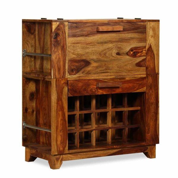 Barkast 85x40x95 cm massief sheesham hout