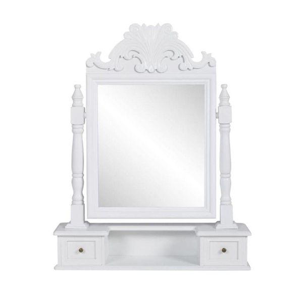 Kaptafel met draaiende rechthoekige spiegel MDF