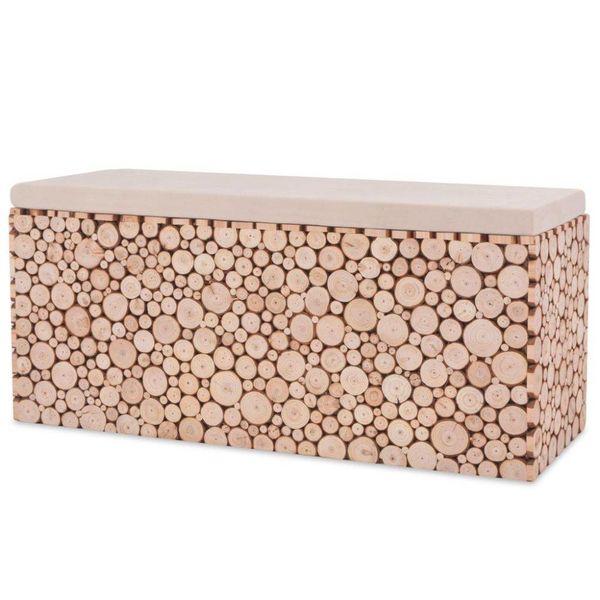 Bank 100x34x41 cm echt hout