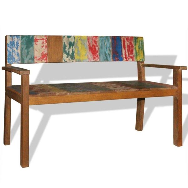Bank 120x48x85 cm massief gerecycled hout
