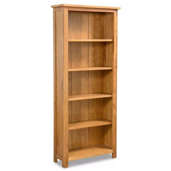 Boekenkast 5 planken 60x22,5x140 cm eikenhout