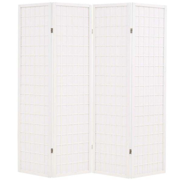 Kamerverdeler inklapbaar Japanse stijl 160x170 cm wit