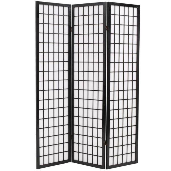 Kamerverdeler inklapbaar Japanse stijl 120x170 cm zwart