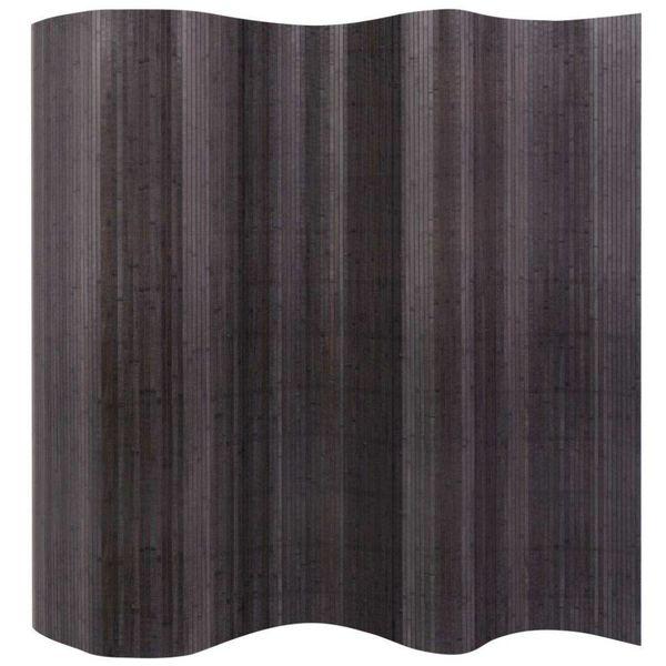 Kamerverdeler grijs bamboe 250x195 cm