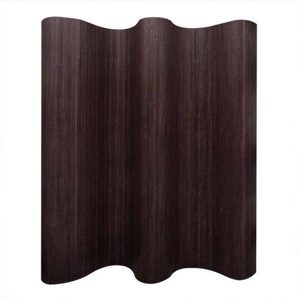 Kamerverdeler donkerbruin bamboe 250x195 cm