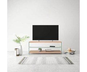 Vidaxl tv meubel hoogglans glas mdf eikenkleur voordeeltrends