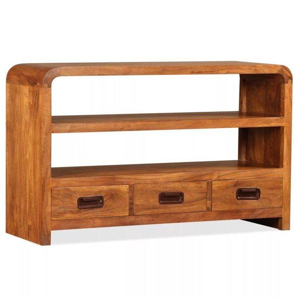 Tv-kast 90x30x55 cm massief hout met sheesham afwerking