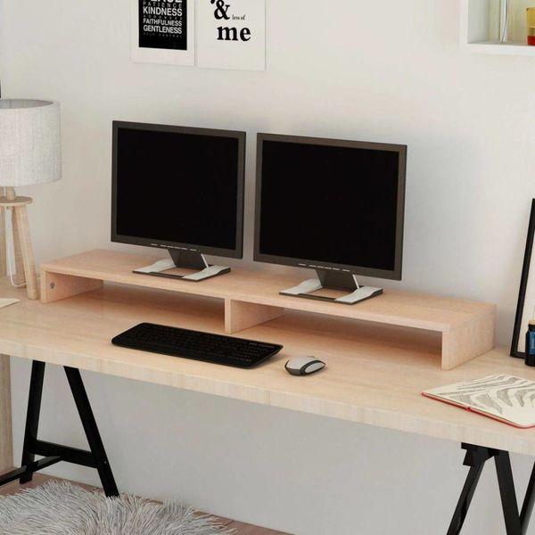 TV-/monitorstandaard spaanplaat 118x23,5x9 cm beige