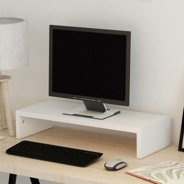 TV-/monitorstandaard spaanplaat 60x23,5x12 cm wit