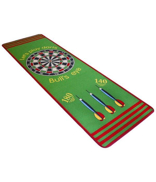vidaXL Darttapijt 79 x 237 cm groen en rood