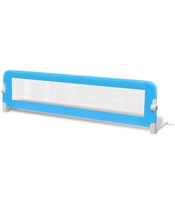 vidaXL Bedhekje peuter 150x42 cm blauw