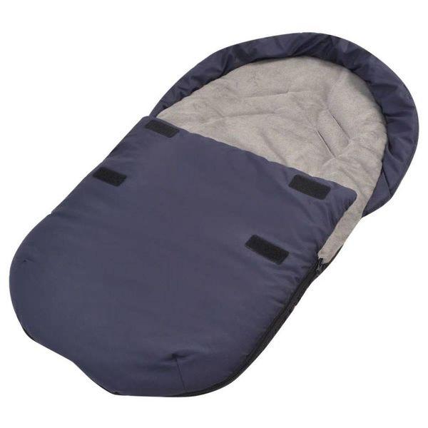 Voetenzak/trappelzak voor kinderwagen/autostoel 75x40 cm marineblauw
