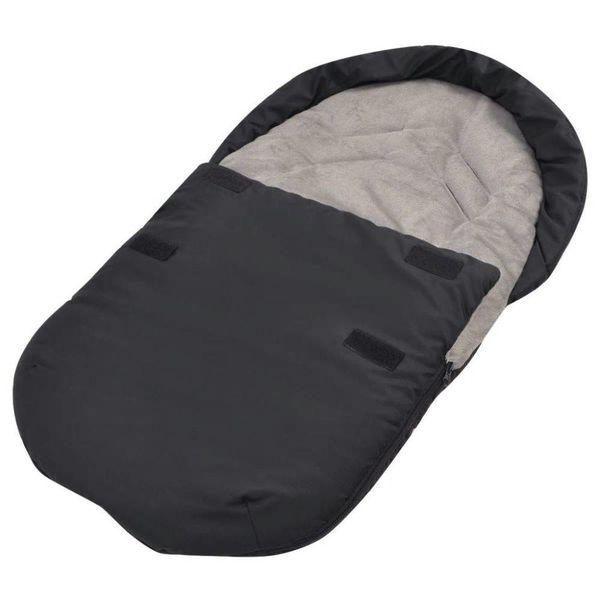 Voetenzak/trappelzak voor kinderwagen/autostoel 75x40 cm zwart