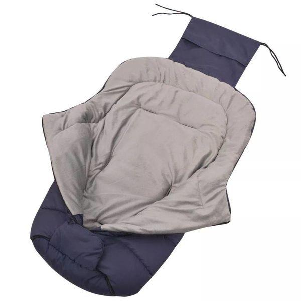 Baby voetenzak/wandelwagen slaapzak 90x45 cm marineblauw