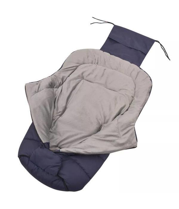 vidaXL Baby voetenzak/wandelwagen slaapzak 90x45 cm marineblauw