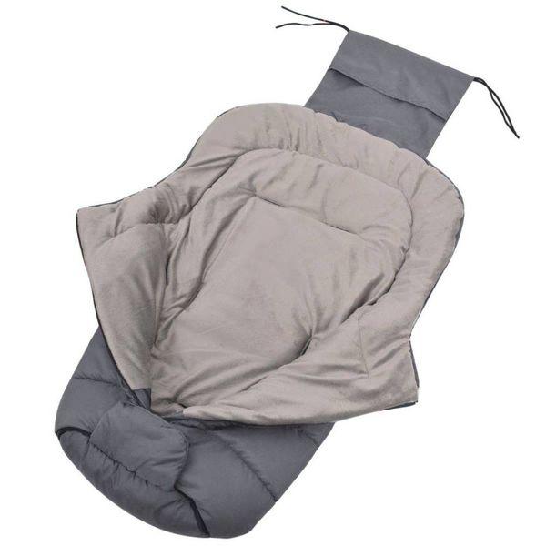 Baby voetenzak/wandelwagen slaapzak 90x45 cm grijs