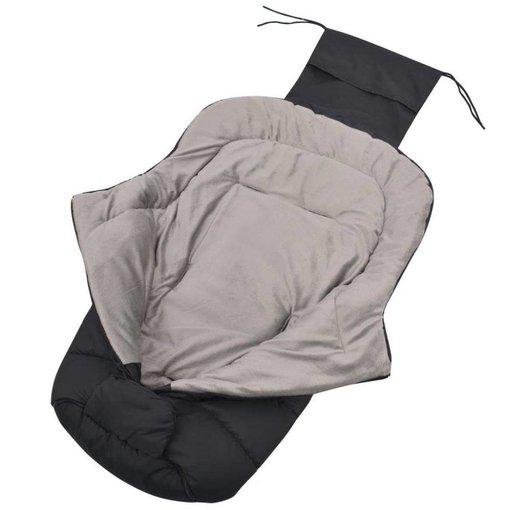 vidaXL Baby voetenzak/wandelwagen slaapzak 90x45 cm zwart