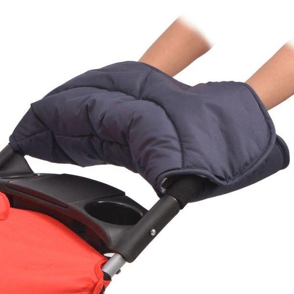Handwarmer voor wandelwagen 55x25 cm marineblauw