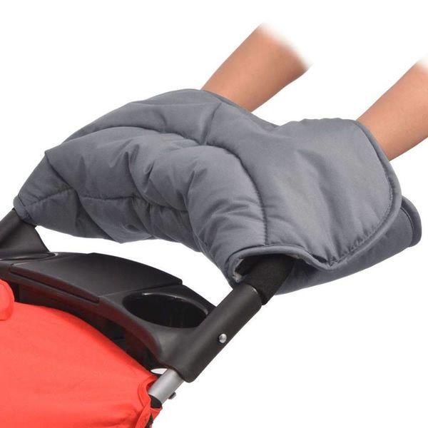 Handwarmer voor wandelwagen 55x25 cm grijs
