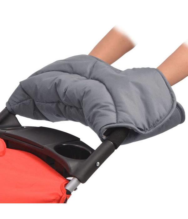 vidaXL Handwarmer voor wandelwagen 55x25 cm grijs