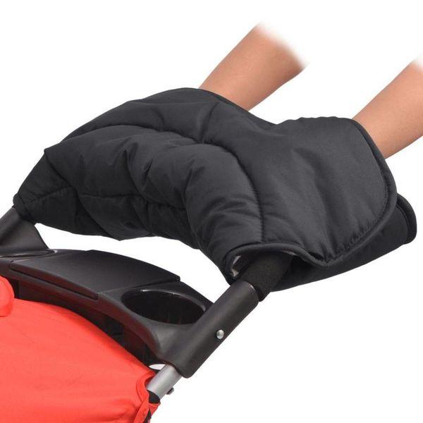 Handwarmer voor wandelwagen 55x25 cm zwart