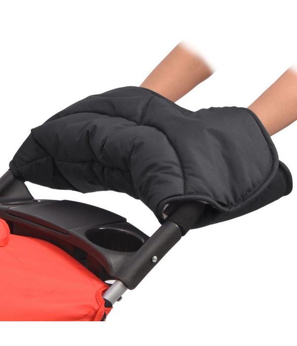 vidaXL Handwarmer voor wandelwagen 55x25 cm zwart