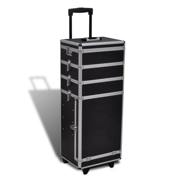 5-in-1 multifunctionele aluminium trolleykoffer