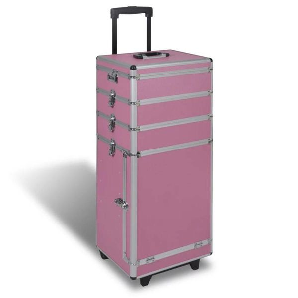 5 in 1 multifunctionele cosmetica trolley (roze)